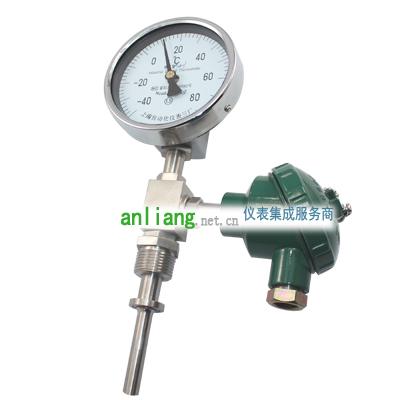 WSS系列带热电偶(阻)温度变送器的双金