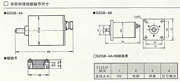 SZGB-4A、SZGB-4B光电转速传感器