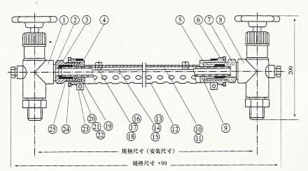 UG玻璃管液位计结构原理图